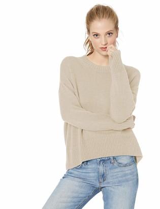 Daily Ritual Amazon Brand Women's 100% Cotton Boxy Crewneck Pullover Sweater