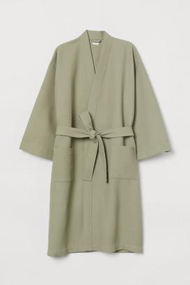 H&M Waffled Bathrobe - Green