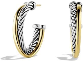 David Yurman Crossover Small Hoop Earrings in Gold