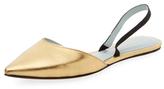 Marc Jacobs Joline Metallic Leather Slingback Flat