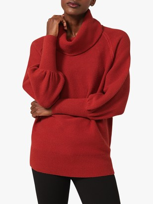 Phase Eight Dahlie Chunky Cowl Neck Jumper, Tobacco