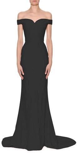 Alexander McQueen Off-Shoulder Crepe Bustier Gown