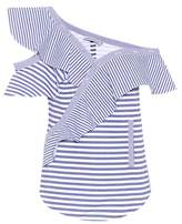 Self-Portrait Sleeveless Wide striped cotton top