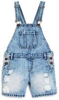 Blank NYC Blanknyc Girls' Distressed Denim Shortalls