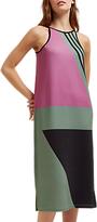 Jaeger Block Print Racer Dress, Purple/Multi