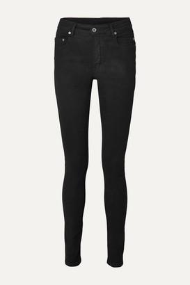 Rick Owens Coated High-rise Skinny Jeans - Black