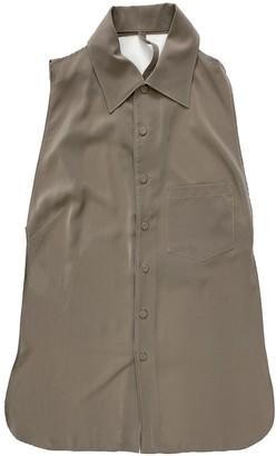 Jean Paul Gaultier Beige Silk Top for Women Vintage