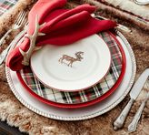 Pottery Barn Silly Stag Salad Plate, Set of 4