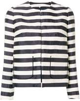 DELPOZO striped fitted jacket
