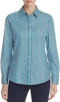 Foxcroft Sateen Stripe Non-Iron Shirt