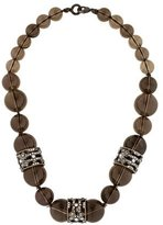 Alexis Bittar Smoky Quartz & Crystal Bead Strand Necklace