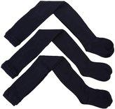 Jefferies Socks 3 Pack Seamless Tights (Toddler/Kid) - White-6-8