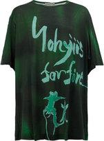 Yohji Yamamoto logo print T-shirt - men - Ramie/Rayon - 3