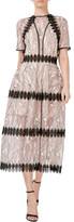 Nicholas Iris Lace Midi Panelled Dress