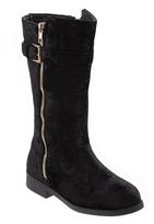 KensieGirl Black Velvet Boot