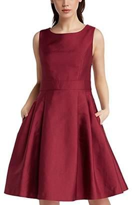 APART Fashion Women's's Cream-Nude-Light Peach-Gold-Burgundy Dress, Red