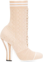 Fendi high heel boots - women - Polyester/Leather/rubber - 38