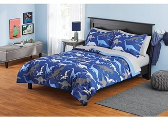 Your Zone Blue Dinosaurs Bed in a Bag