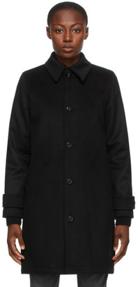 A.P.C. Black Wool Suzanne Coat