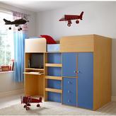Kidspace Miami Mid-Sleeper Bed + Desk and Storage