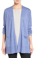 Eileen Fisher Organic Linen & Cotton Open Front Cardigan