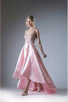 Unique Vintage Blush Pink Sleeveless V-Neck Gown