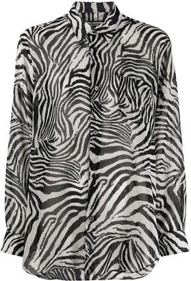 Junya Watanabe Zebra Print Longline Shirt