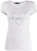 Love Moschino studded logo T-shirt