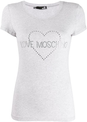 Love Moschino studded logo T-shirt