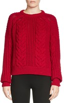 Maje Maxime Cable-Knit Sweater
