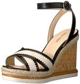 Nine West Women's Vaughn Leather Wedge Sandal