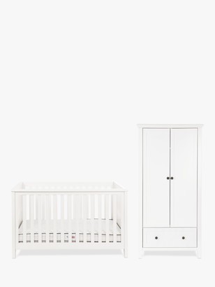 Silver Cross Nostalgia Cotbed and Wardrobe, White