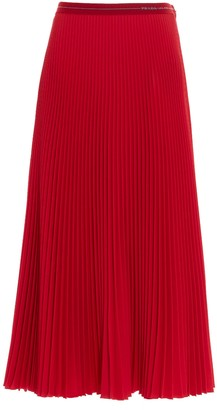 Prada Pleated Midi Skirt