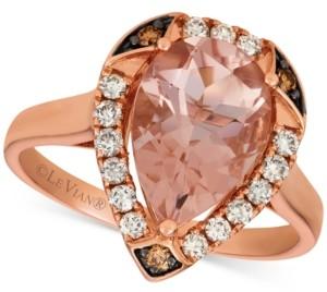 LeVian Le Vian Morganite (2-1/3 ct. t.w.) & Diamond (1/3 ct. t.w.) Ring in 14k Rose Gold