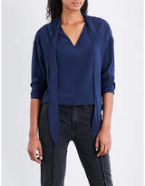 Sandro Self-tie silk top