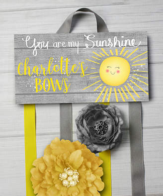 Toad And Lily Toad and Lily Hair Bows yellow, - 'You Are My Sunshine' Personalized Hair Bow Holder
