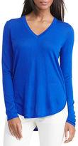 Lauren Ralph Lauren Petite Haivyn Silk-Blend V-Neck Sweater