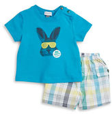 Absorba Cool Bunny Tee and Shorts Tee