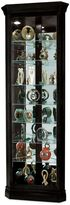 Howard Miller Duane Corner Curio in Black Satin