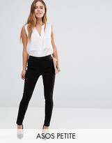 Asos High Waist Pants in Skinny Fit in Shorter Length