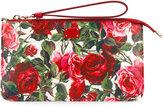 Dolce & Gabbana rose print clutch - women - Calf Leather - One Size