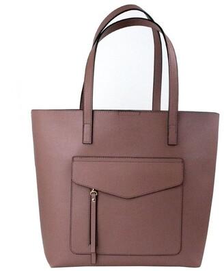 Mocha Portia Tote Bag - Mauve