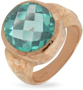 Torrini Stefy - Green Amethyst Oval Gemstone 18K Rose Gold Ring