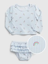 Gap Baby Ruffle Rash Guard Swim Set