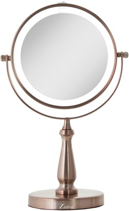 Zadro LED Lighted Vanity Swivel Mirror 1X/8X