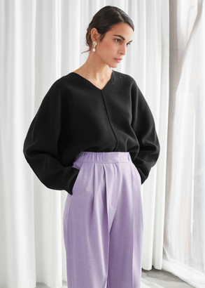 And other stories Wool Blend Cocoon Sleeve Knit Sweater