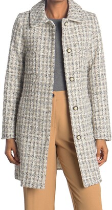 Laundry by Shelli Segal Tweed Four Pocket Coat