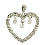 "14K Gold Diamond Dashing Diamonds Pendant with 18"" Chain"