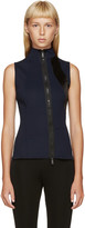 Paco Rabanne Navy and Black Zippered Tank Top