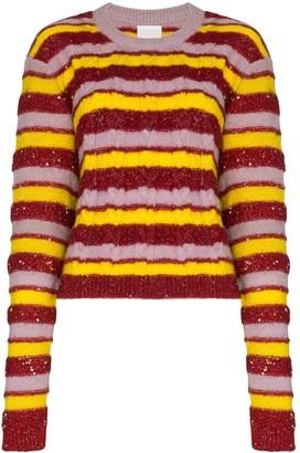 Ashish Stripe Knit Jumper
